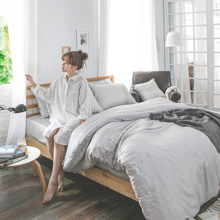 床包 / 雙人【爵色風華】含兩件枕套  60支天絲  戀家小舖台灣製AAU201