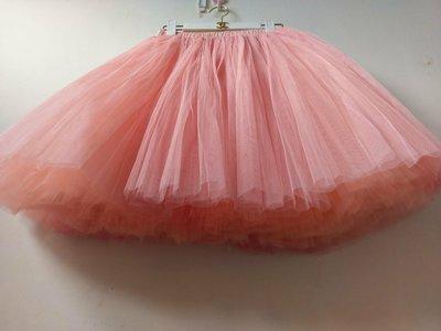 出清粉膚色紗裙現貨 8層長度55CM 大尺碼 寫真 外拍 cosplay Luxe boutique