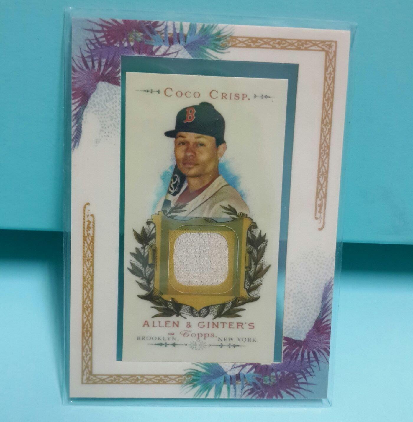 2007 Coco CRISP波士頓紅襪隊球具棒球卡