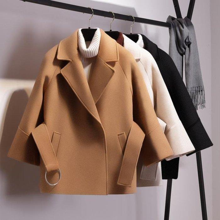 小矮個子毛呢外套秋冬季女新款2018流行呢子大衣加厚學生短款斗篷