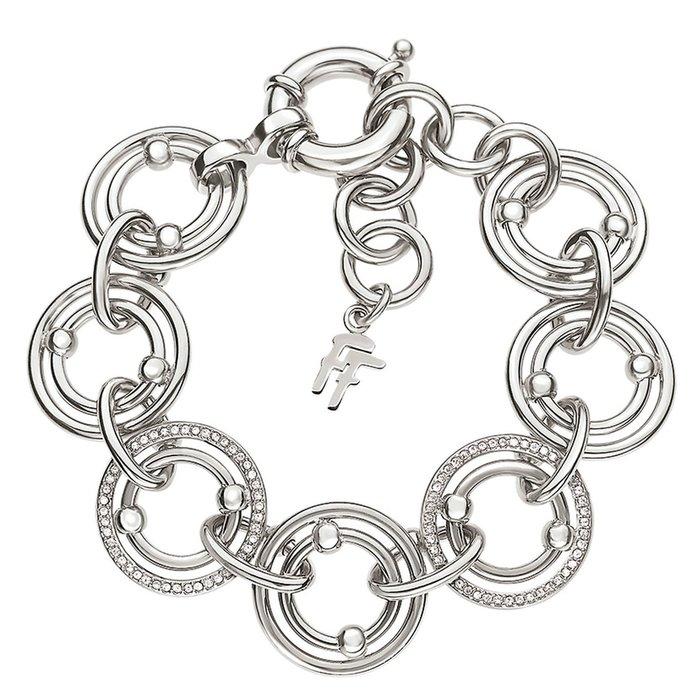 全新從未戴過 Folli Follie 鍍銀鑲水鑽華麗年輕款手環,只有一件!低價起標無底價,本商品免運費!