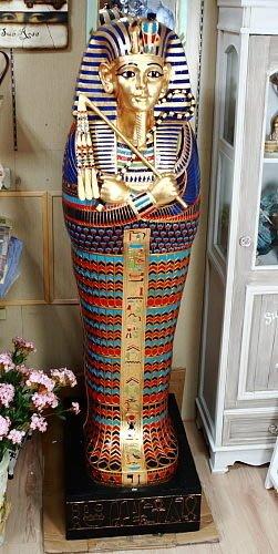 點點蘑菇屋{收納櫃}歐洲進口~埃及法老王櫥櫃 書櫃 精緻飾品 藝術品 現貨 免運