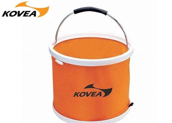 丹大戶外【KOVEA】韓國萬用水桶13L單個販售/可壓縮/攜帶型收納袋/提袋KD-1002