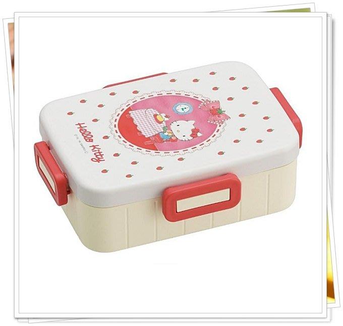日本製 樂扣蓋 保鮮盒 便當盒650ML 水果盒 KITTY 347313 奶爸商城 通販 日本限定
