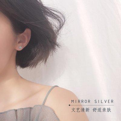 配飾耳環項鏈戒指小麋人銀匠藍色滴釉噴水鯨魚少女感S925純銀耳釘創意可愛學生女款