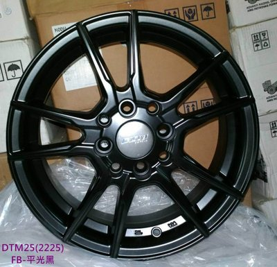 【超前輪業】 全新鋁圈 DTM25 14吋鋁圈 4孔100 4孔114.3 平光黑 5.5J ET35 歡迎詢問搭配輪胎
