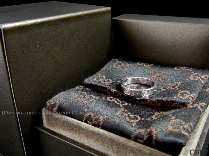 金鐸精品~C607 GUCCI 古馳 ICON 750/18白K金 造型戒指