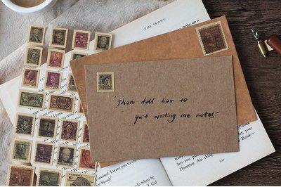 信的戀人 裝飾貼紙 PVC牛皮紙貼 復...