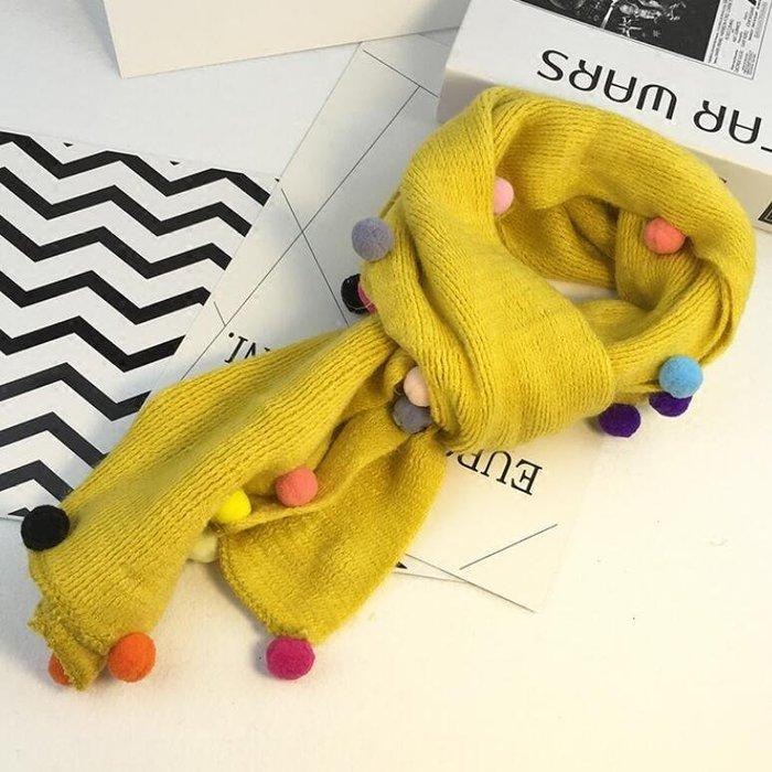兒童毛線圍巾 女童針織保暖圍脖 男童韓版 小孩寶寶脖套—莎芭