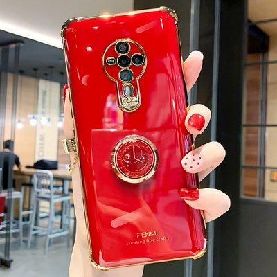 @精品良鋪 vivos6手機殼創意時鐘指環支架s6攝像頭全包鏡頭保護電鍍防摔軟殼vivos6硅膠套潮牌個性