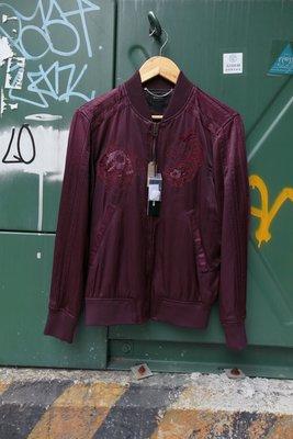 DIESEL J-BLUES 酒紅 橫須賀 刺繡 外套 夾克 全新 現貨 同色調 XS 棉 鋪棉 羽絨