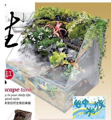 {台中水族}台灣-UP-半水景生態寵物缸 -(20*18*20cm)-岩板-含馬達 特價 兩棲 爬蟲