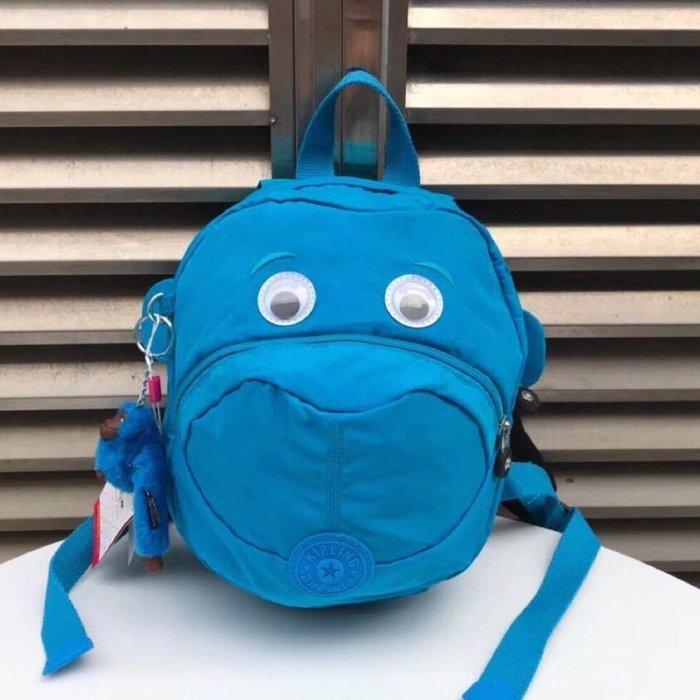 Kipling 猴子包 K08568 湛藍 猴子眼睛嘴巴耳朵 超可愛 兒童拉鍊款輕量後背包 輕便 限時優惠