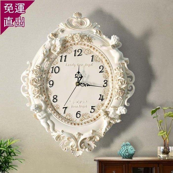 歐式掛鐘創意藝術壁掛鐘錶客廳臥室靜音時鐘酒吧美容會所掛錶