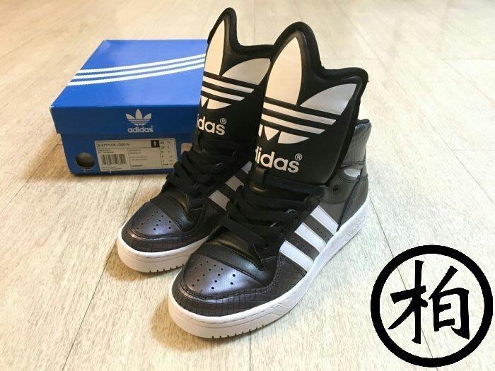 【柏】ADIDAS ORIGINALS M ATTITUDE LOGO W 黑色 大鞋舌 G44401 女鞋 US7.5