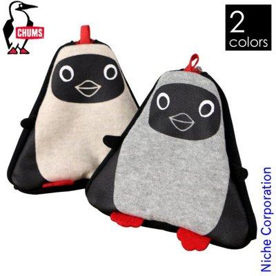 =CodE= CHUMS TRIANGLE BOOBY PURSE SWEAT 毛巾布零錢包(白.灰)CH60-2664