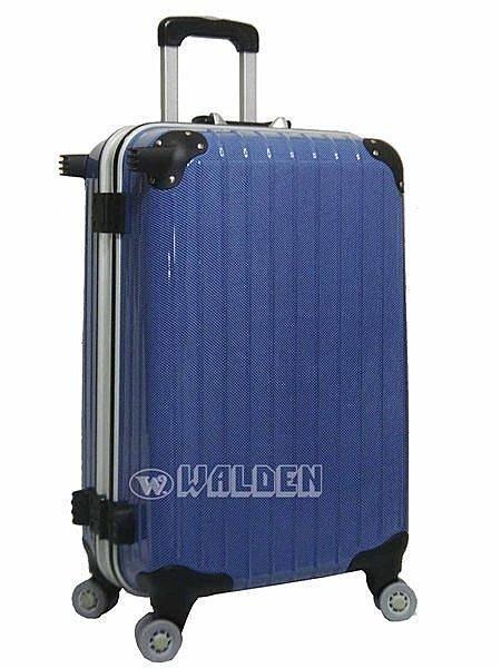 【補貨中缺貨葳爾登】NINO1881硬殼24吋摔不破頂級硬殼旅行箱8輪360度行李箱登機箱24吋2568藍色鏡面