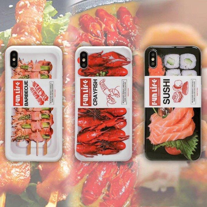 IPHONE美食系列 食物手機殼 造型手機殼 小龍蝦 壽司 秋葵  iphoe 6s 7 8 plus X XsMax