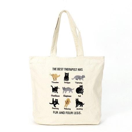 現貨 帆布刺繡純棉手提袋 學生袋 購物袋
