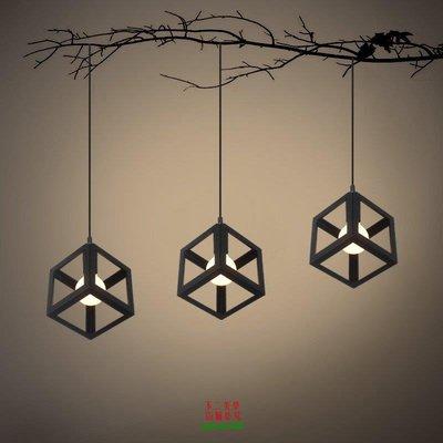 【美學】北歐美式餐廳燈現代簡約復古單頭led吊燈鐵藝單頭吊燈燈MX_292