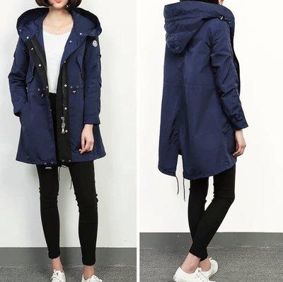 【喬喬本舖】秋冬中長款風衣外套 長版連帽外套 軍裝外套  MONCLER  3色 BB1
