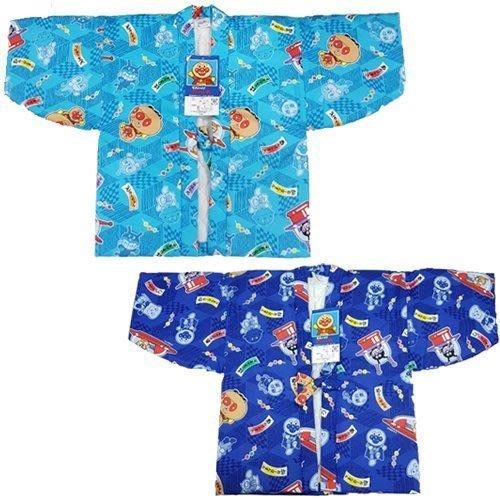【JPGO日本購】 日本製 可愛麵包超人保暖浴衣.和服 100cm~淺藍#200 深藍#103