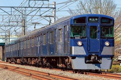[玩具共和國] GM 31552 西武9000系(多摩湖線・紺色)4両編成セット(動力付き)