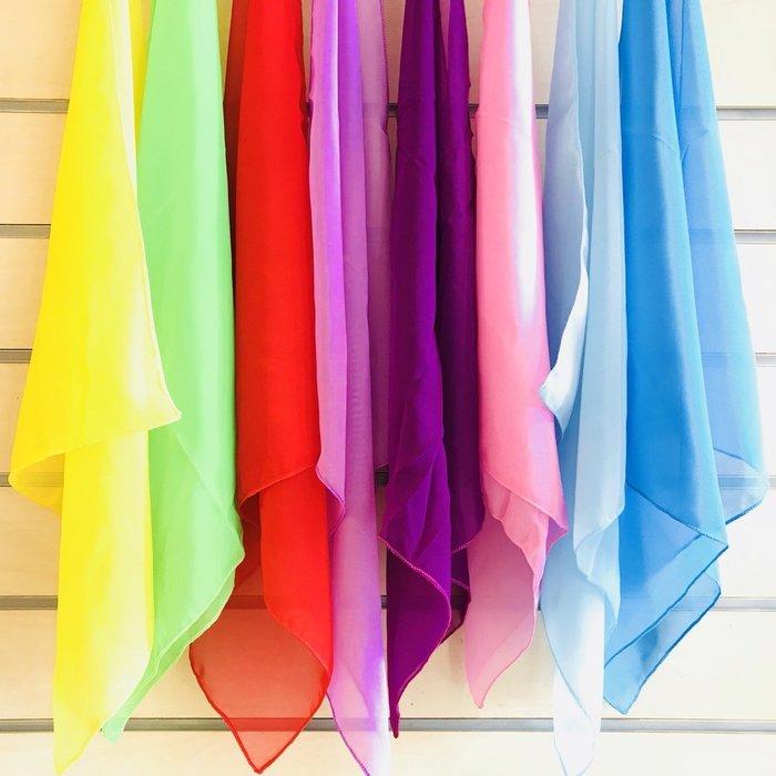 【老羊樂器店】舞蹈紗巾 雪紡紗巾 律動紗巾 舞台表演 手帕 方巾 絲巾 手絹 奧福樂器 ORFF 多款顏色