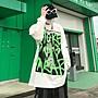 【暖暖的小屋】 黑暗教主INS歐美高街暗黑系涂鴉字母印花長袖T恤衫嘻哈寬松衛衣男潮