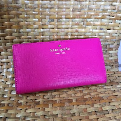 Kate Spade Pink Leather Wallet 99%new 100% real