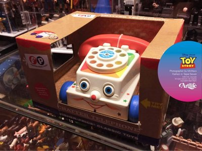 ArtLife @ Fisher PIXAR ToyStory Chatter Telephone 玩具總動員 費雪電話