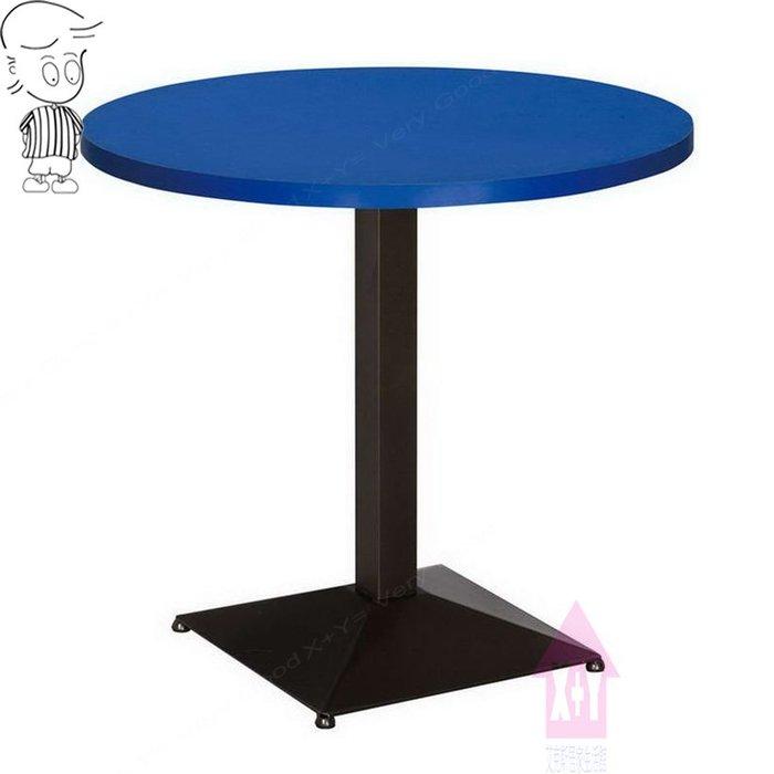 【X+Y時尚精品傢俱】現代餐桌椅系列-艾里 2尺洽談桌(烤黑方盤S圓桌).餐桌.早餐桌.另有2.5尺.摩登家具