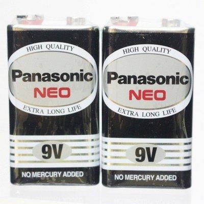 Panasonic 國際牌 9V電池 四角(黑色)/一個入{促55} 9V環保電池