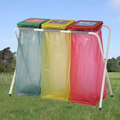 【量大來電】西瓜籽 鋼管烤漆 三分類資源回收架/M03 資源回收/清潔/整理/分類