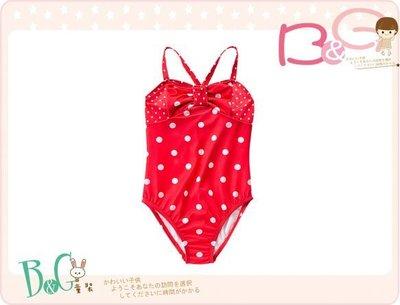 【B& G童裝】正品美國進口GYMBOREE Polka Dot 點點蝴蝶結紅色連身泳裝8yrs(UPF50)