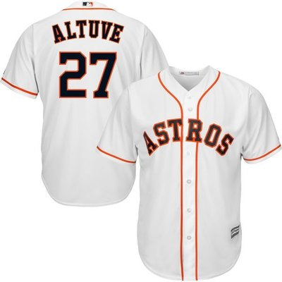 Jose Altuve Majestic White Home Cool Base Player Jersey
