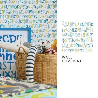 【夏法羅 】童趣系列 俏皮字母壁紙 英式優雅風格 兒童房 臥室 英國期貨 BG-3879