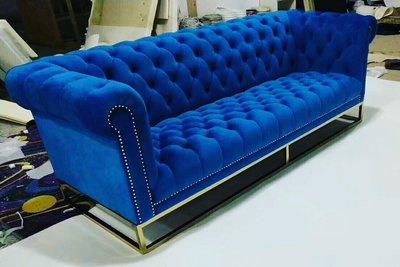 【順發傢俱】復古沙發,藍色系 全訂製 2