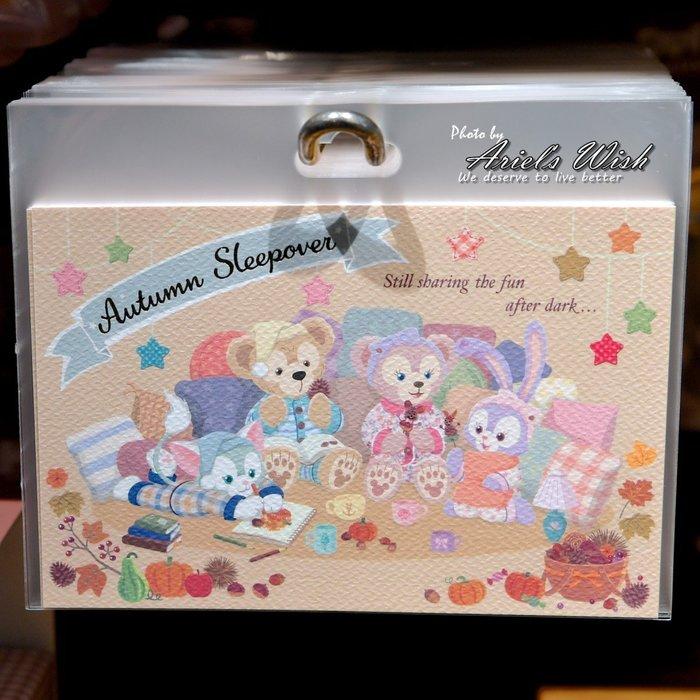 Ariel's Wish預購日本東京迪士尼萬聖節睡衣派對達菲熊Duffy雪莉玫Stella史黛拉兔兔明信片卡片留言板情書