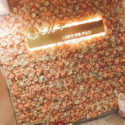 花牆 假花 仿真花 網美 直播 打卡 草皮 人造花 植物牆 植生牆 假花 攝影背景 背板 拍照 婚禮佈置 DIY 拼接