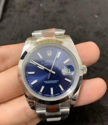 (老錶現)勞力士 日誌男款126300藍面 男士機械手錶