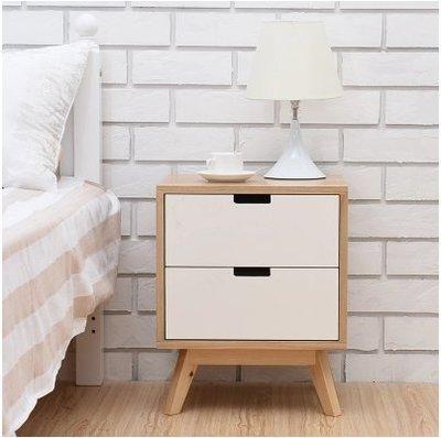 『格倫雅』實木床頭櫃簡約現代床邊儲物小櫃子臥室床頭置物櫃宿舍床頭收納櫃^11690