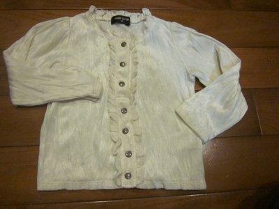 二手童裝出清--白色絨布上衣