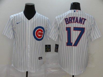 運動專用~MLB小熊隊球衣Cubs棒球服 44#RIZZO #21BRYANT #9BREZ開衫T恤刺繡