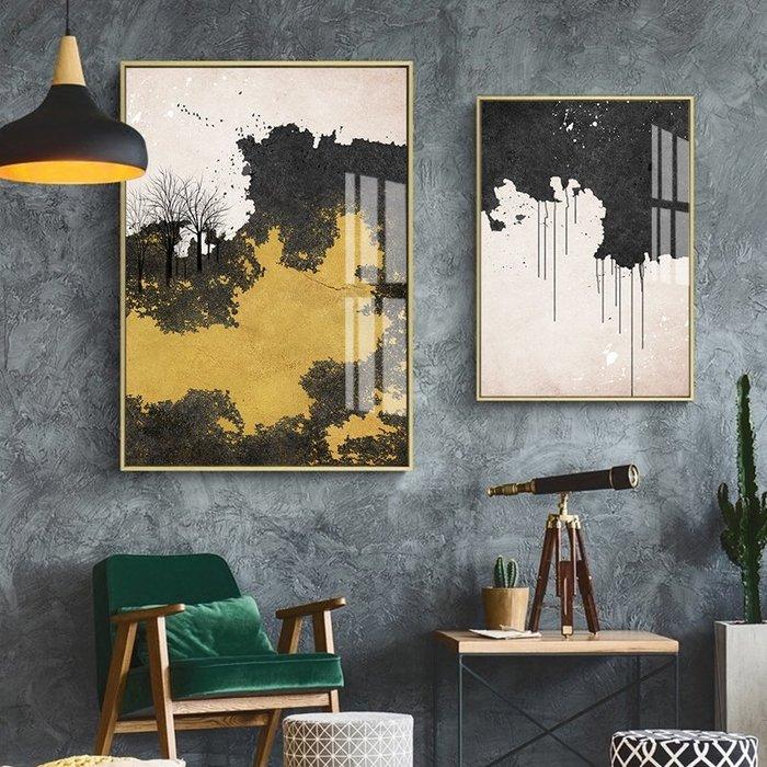 北歐風格現代簡約抽象裝飾畫畫芯畫布微噴打印掛畫壁畫牆畫(3款可選)