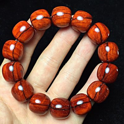 印度小葉紫檀 老型珠 1.5*14顆 金星 雞血紅 頂級泥料 玻璃底 無漆 無蠟 細膩無比..B315
