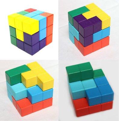 【晴晴百寶盒】木製魔方 空間魔方 魔術方塊 親子早教 益智遊戲玩具 安全平價促銷 禮物禮品 CP值高 P120