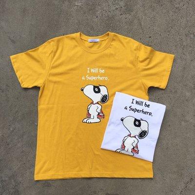 【inSAne】韓國購入 / 卡通 / 可愛 / 短TEE / 單一尺寸 / 白色 & 黃色