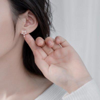 爆款耳釘女會動的設計感小眾星星耳墜個性...