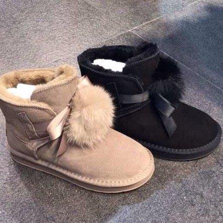 『※妳好,可愛※』 韓國童鞋  韓國真皮款雪靴 韓國雪靴 雪靴(2色)